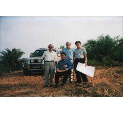 2003年 李德荣大师亲手盘线定位 富贵山庄土地(柔佛州昔加末利民达)